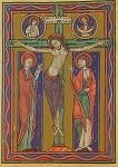 Der gekreuzigte. Folkungepsalterium 2. Hälfte 12. Jh. KK