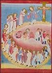 Zug der Getauften zum Kreuz, um 1000. KK