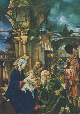 Albrecht Altdorfer. Anbetung der Heiligen Drei Koenige