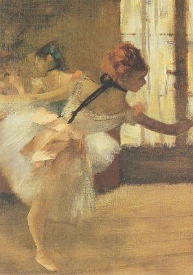 Edgar Degas. Die Ballettprobe, Ausschnitt. KK
