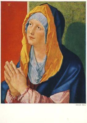 Albrecht Dürer. Betende Maria. KK