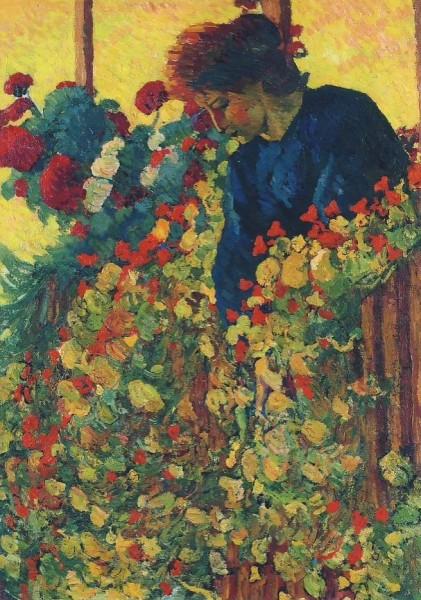 Giacometti, Giovanni. Auf der Laube, um 1910. KK
