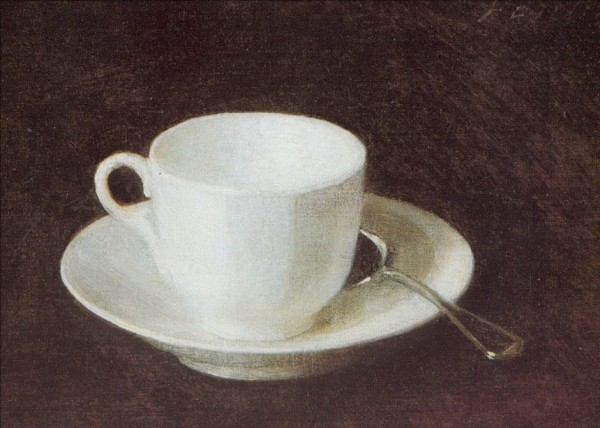 Henri Fantin-Latour. Weisse Tasse und Untertasse, 1864. KK