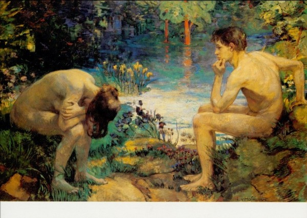 Hofmann, Ludwig von. Das verlorene Paradies, um 1893. KK
