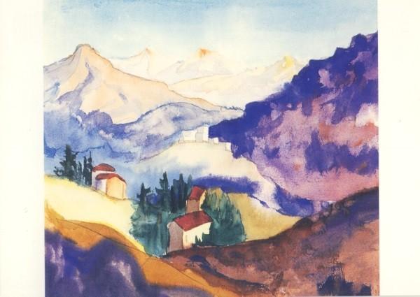 Hermann Hesse. November im Tessin, Aquarell