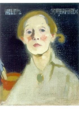 Helene Schjerfbeck. Selbstbildnis mit sw Hintergrund, 1915