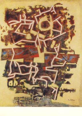 Rupp, M. Gesprengtes Gitter, 1916. KK