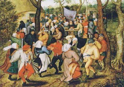 Pieter Bruegel d. J., Der Hochzeitstanz im Freien, um 1607