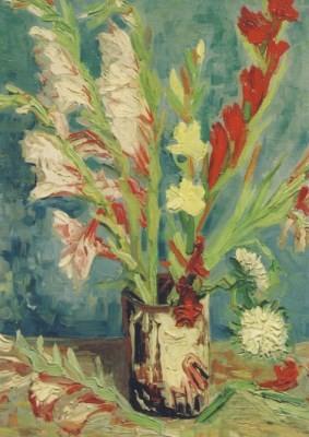 Vincent van Gogh. Vase mit Gladiolen, 1886