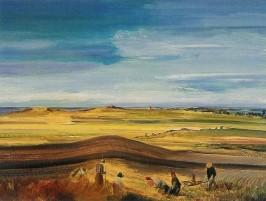 Partikel, A. Landschaft bei Ahrenshoop, 1933. KK