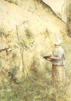 Larsson, C. Die alte Mauer, 1885. KK
