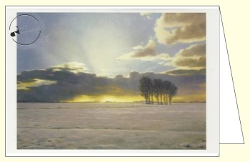 Helmantel, Henk. Clearing clouds with snow against/sunrise