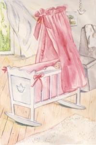 Anne C. Wenzel. Wiege rosa