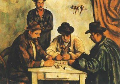 Cézanne, P. Der Kartenspieler,1890/92. KK