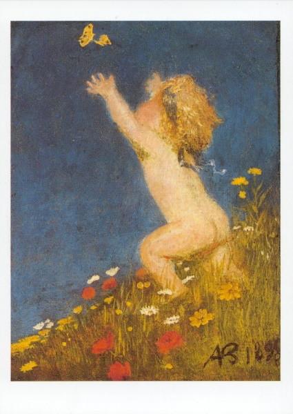 Arnold Böcklin. Putto und Schmetterling, 1895. KK