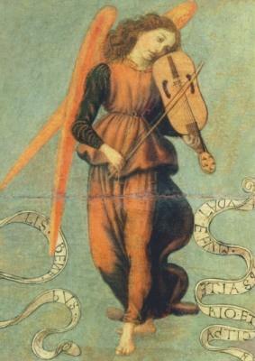 Botticini, Francesco. Fiedel spielender Engel, 1475-1497