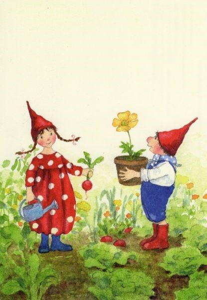 Daniela Drescher. Pippa und Pelle im Garten