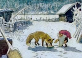Wiberg, H. Tomte und der Fuchs. KK