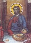Byzantinisch. Abendmahl, Christus. (Ausschnitt). KK