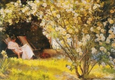 Kröyer. Rosen, die Frau des Künstlers im Garten, 1893. KK