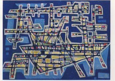 Manessier, A. Die Schiffswerft, 1953. KK
