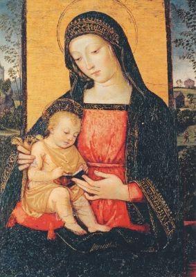 Pinturicchio. Madonna mit dem Kind, 1490