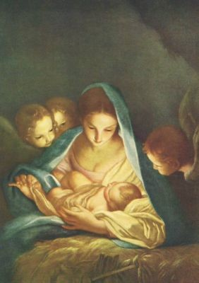 Carlo Marattal. Heilige Nacht, 1652