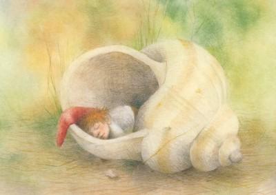 Sanne Dufft. Der schlafende Wichtel im Schneckenhaus