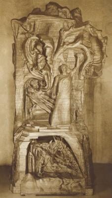 Rudolf Steiner. Christusstatue. Druck