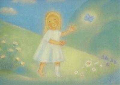 Ruth Elsässer. Schmetterling 30 x 23 cm. KD
