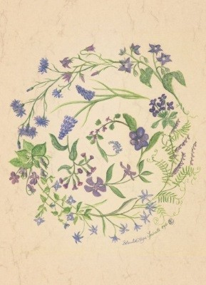 Anna Malten (Lübsee). Blaublütige Spirale, 2001