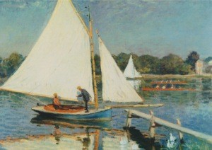 Claude Monet. Segeln bei Argenteuil, 1874