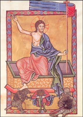 Auferstehung. Bamberger Psalter 13. Jh. KK
