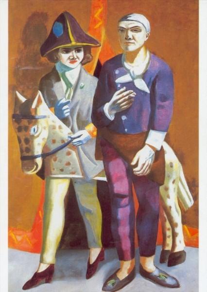 """Max Beckmann. Doppelbildnis """"Karneval"""", 1925. KK"""