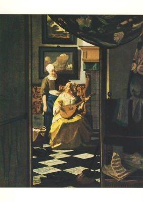 Jan Vermeer van Delft. Der Liebesbrief. KK
