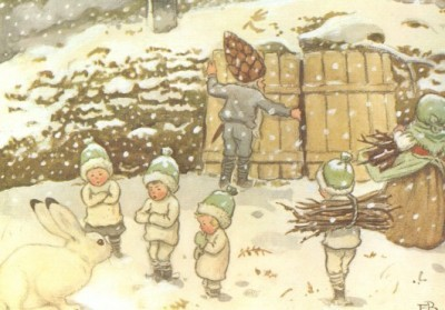Elsa Beskow. Kinder im Winter. KK