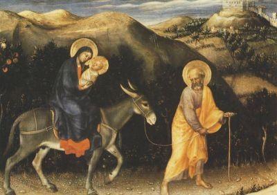 Gentile da Fabriano. Flucht der heiligen Familie n. Ägypten