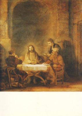 Rembrandt. Die Emmaus-Jünger. KK