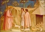 Giotto di Bondone. Joachim bei den Schafen. KK