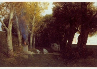 Arnold Böcklin. Heiliger Hain, 1886. KK