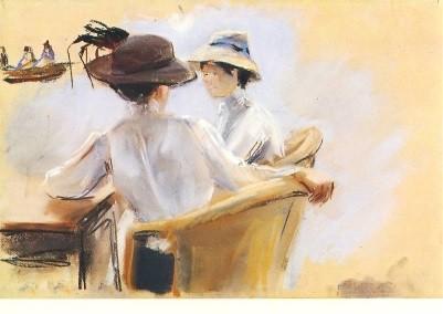 Max Liebermann. Zwei Damen am Wasser, 1910. KK
