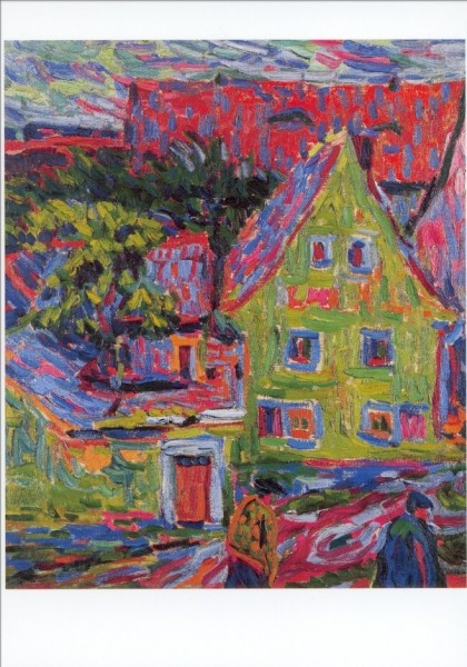 Ernst Ludwig Kirchner. Grünes Haus, ca. 1906. KK
