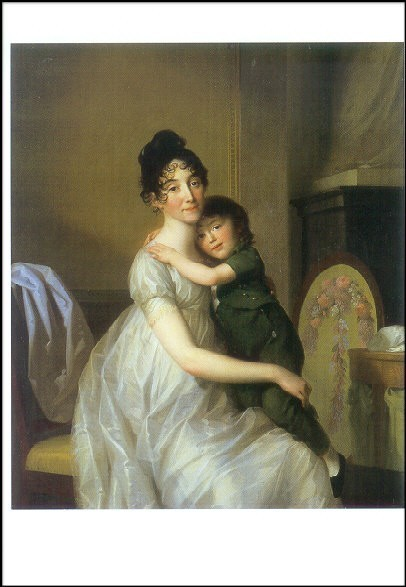 Tischbein, J.F.A. Anne Pauline Dufour-Feronce m.Sohn,1802.KK