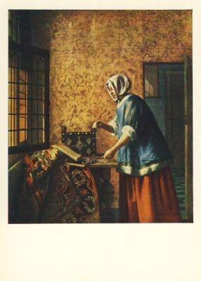Hooch, P. Die Goldwägerin. KK