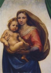 Raffael. Sixtinische Madonna, Brustbild, um 1512/13. KK