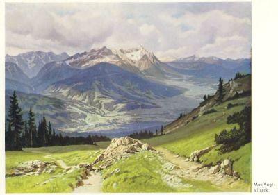 Vogt-Vilseck. Blick vom Wank auf die Zugspitze. KK