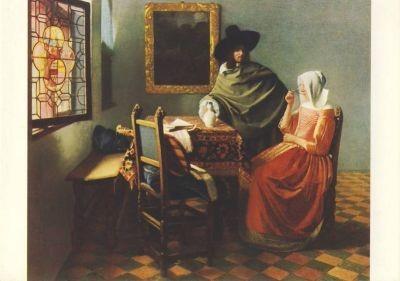 Jan Vermeer van Delft. Die Weinprobe. KK