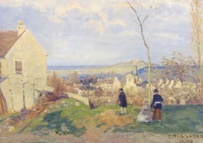 Camille Pissarro. Louveciennes mit dem Mont Valérien....