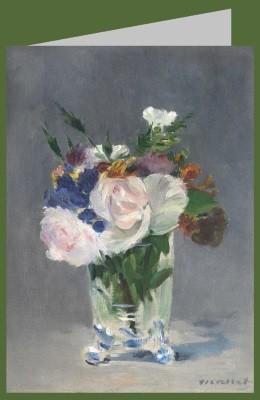 Edouard Manet. Blumen in einer Kristallvase, 1882