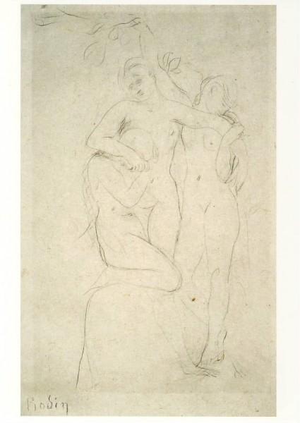 Auguste Rodin. Seelen im Fegefeuer. 1881. KK